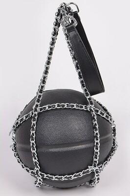 Black Basketball Shoulder Bag