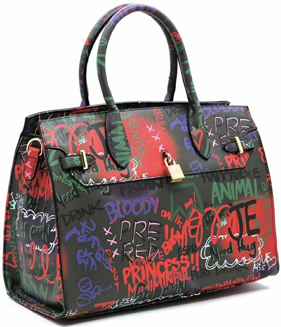 Graffiti Tote - Black