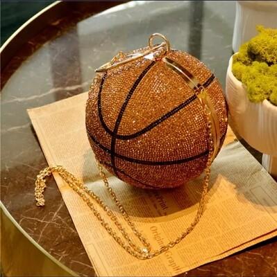 Rhinestone Large Basketball Clutch