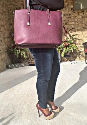 Burgundy Shoulder Bag