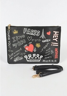 Paris Graffiti Crossbody