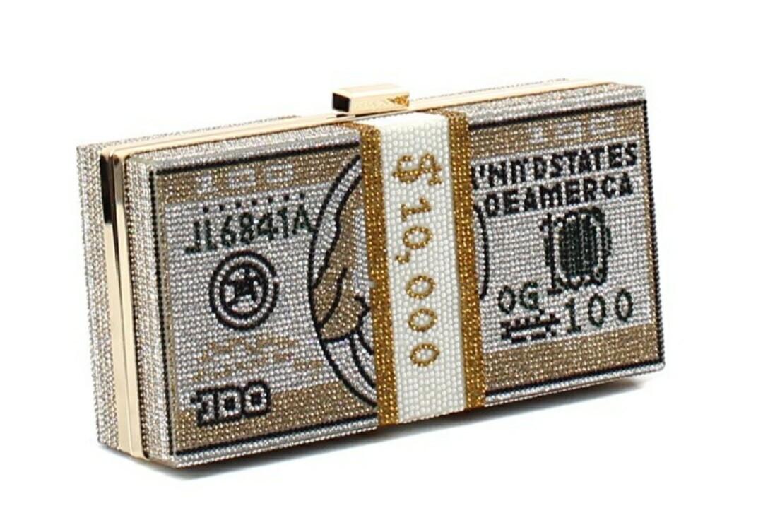 Gold Money Clutch