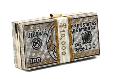 Gold Money Clutch
