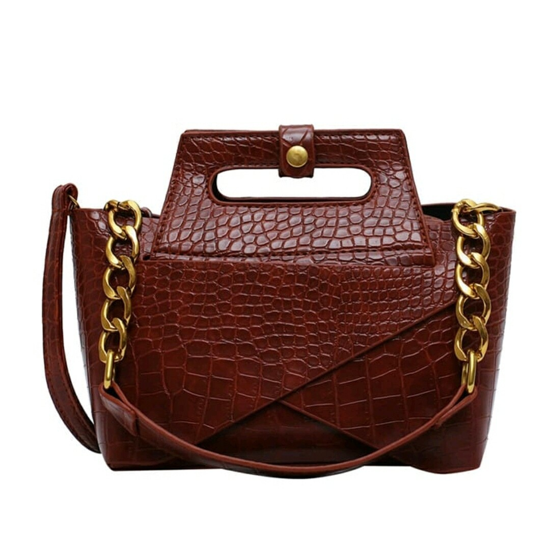Cognac 2 pc Crossbody Set