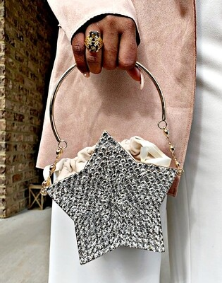Rhinestone Star Clutch