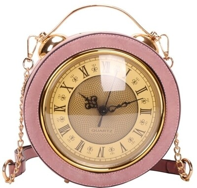 Working Clock Crossbody Pink