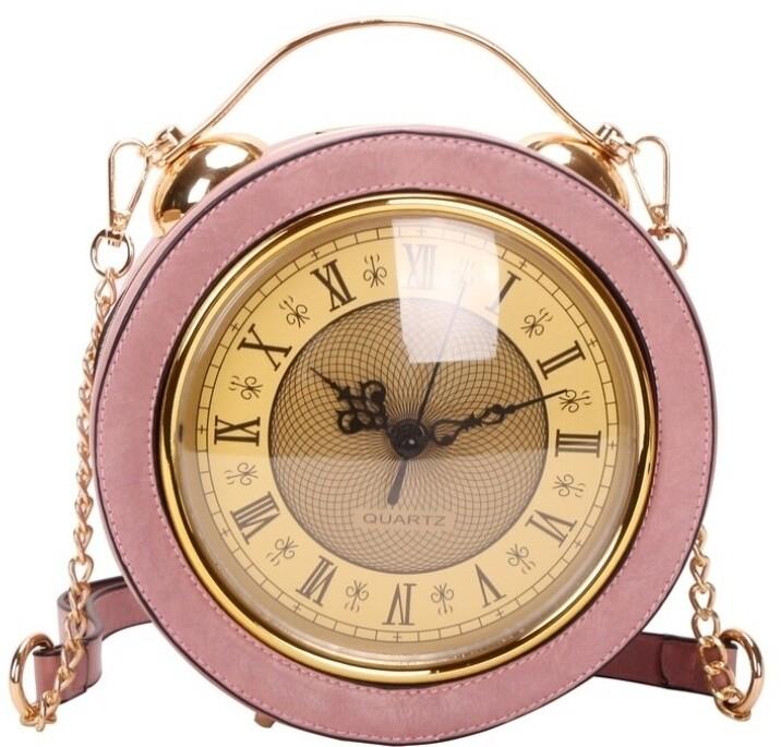 Working Clock Crossbody Pink
