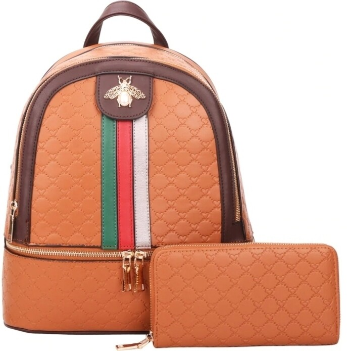 Brown Bee Backpack 2 pc
