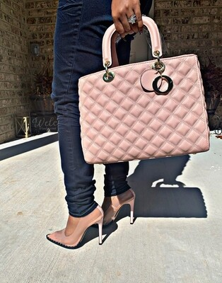 Quilted Blush Tote