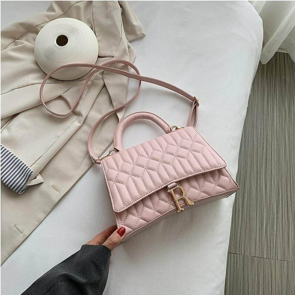 Blush Quilted Crossbody