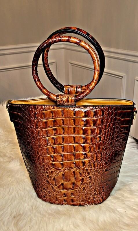Ring Handle Bucket - Brown