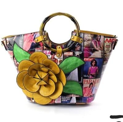 Obama Mustard 3D Flower Bag