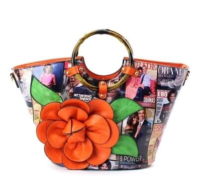Obama Orange 3D Flower Bag