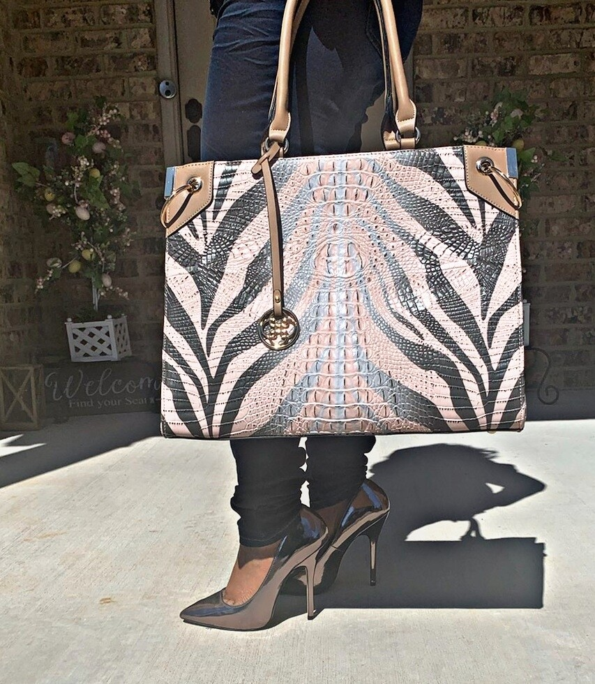 Tan 2 pc Tote