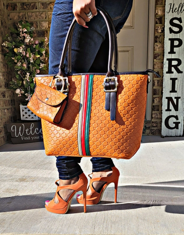 Orange Striped 2 pc Set