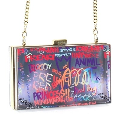Graffiti Acrylic Crossbody