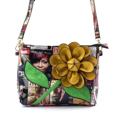 Obama 3D Flower Crossbody