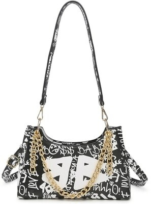 Graffiti Black Crossbody