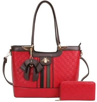 Red Bow 2 pc