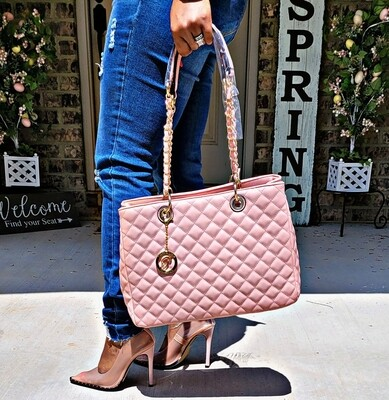 Pink Quilted 2 pc Set