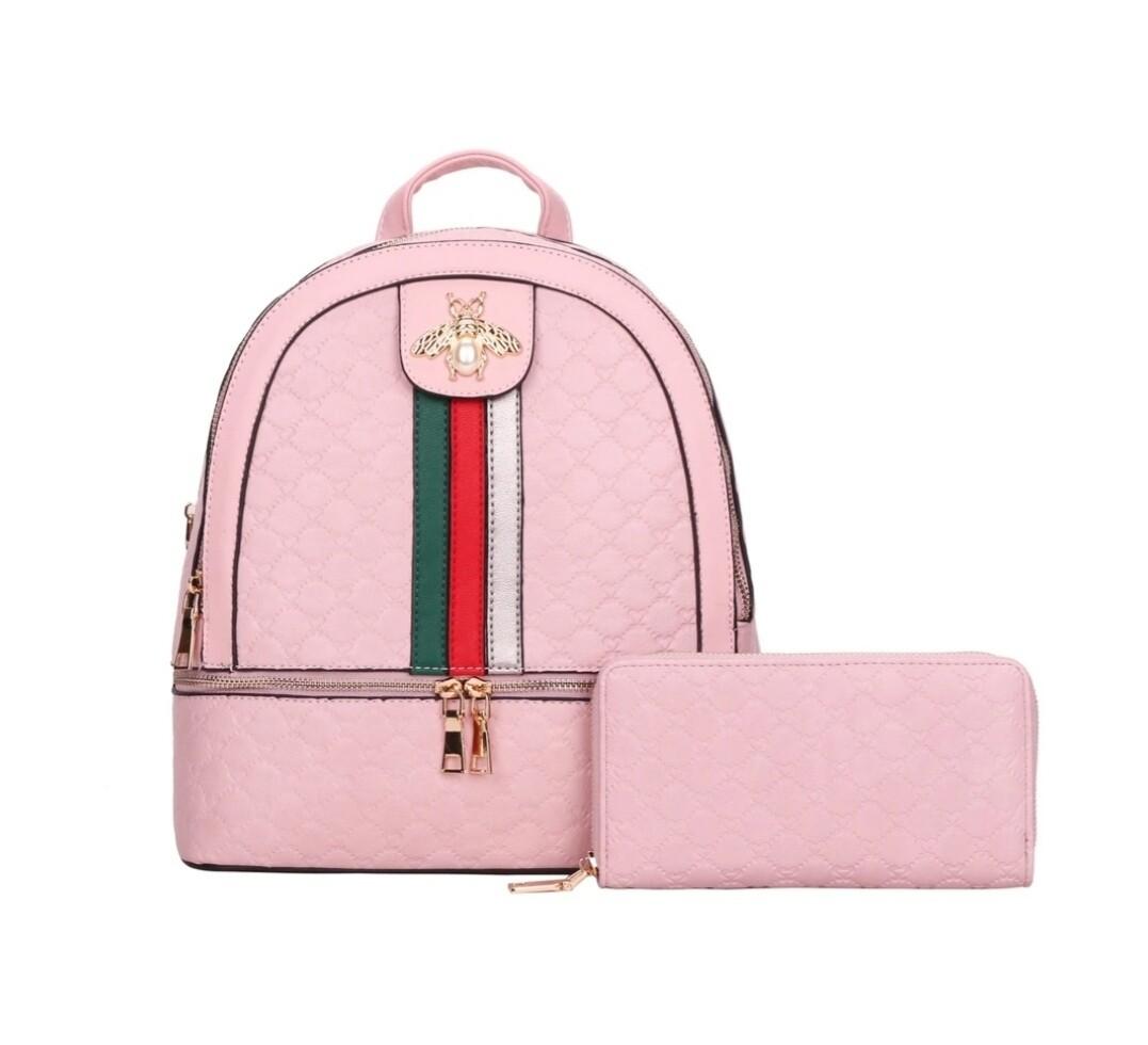 Pink Bee Backpack