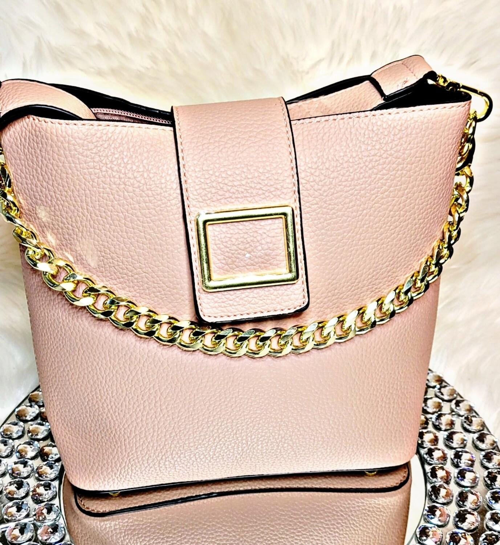 Pink Chain Crossbody