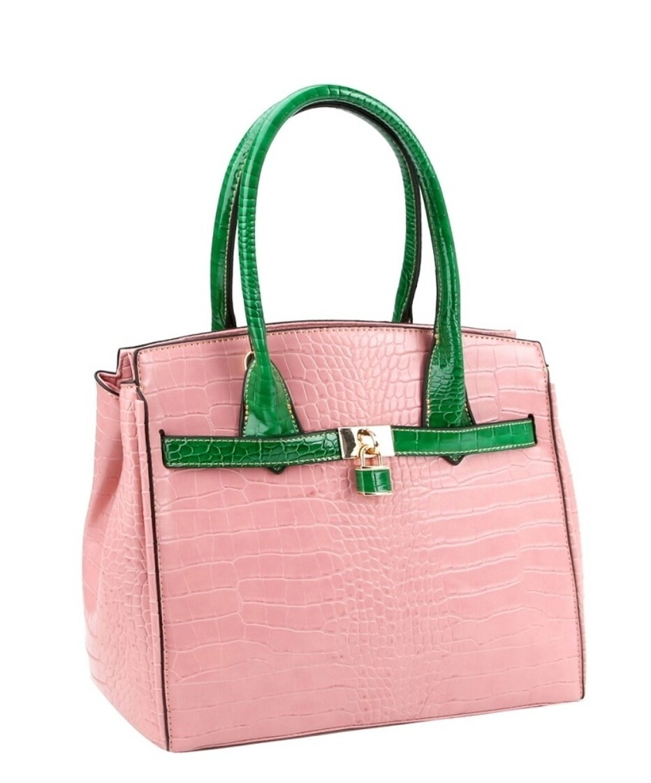 Pink Green Tote