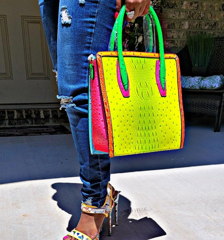 Neon Croc Bag