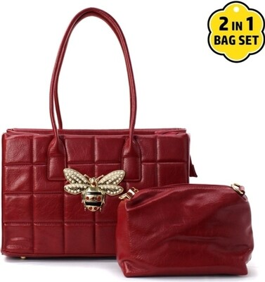 Red Bee Quilted Bag