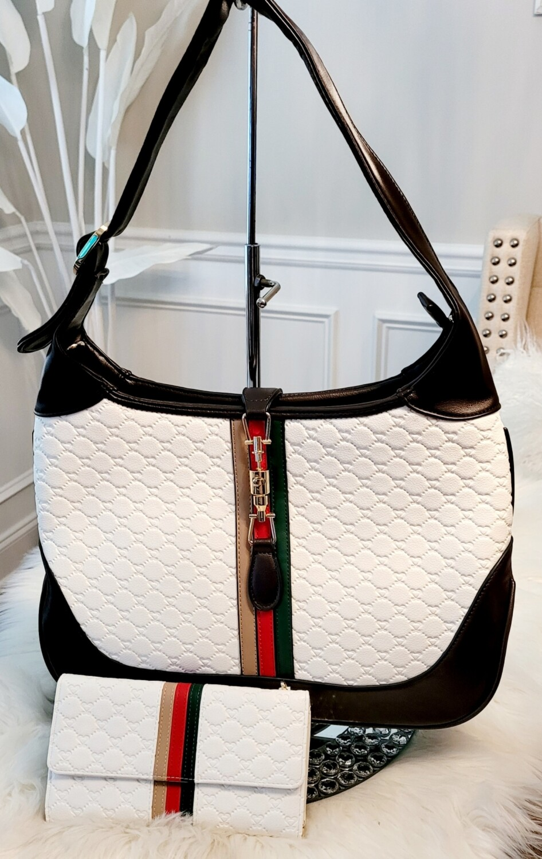 White Shoulder 2 pc Bag