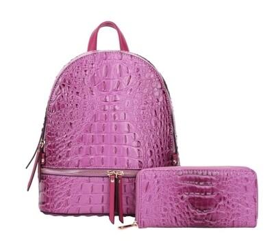 Purple 2 pc Backpack