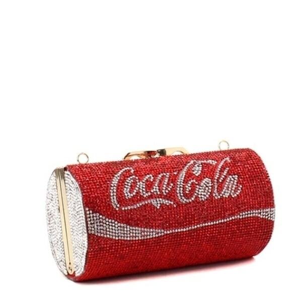 Coke Rhinestone Clutch