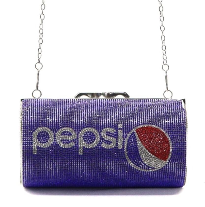 Pepsi Rhinestone Clutch