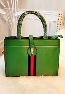 Emerald Stripe Bag