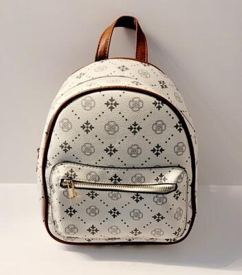 Beige Mini Backpack