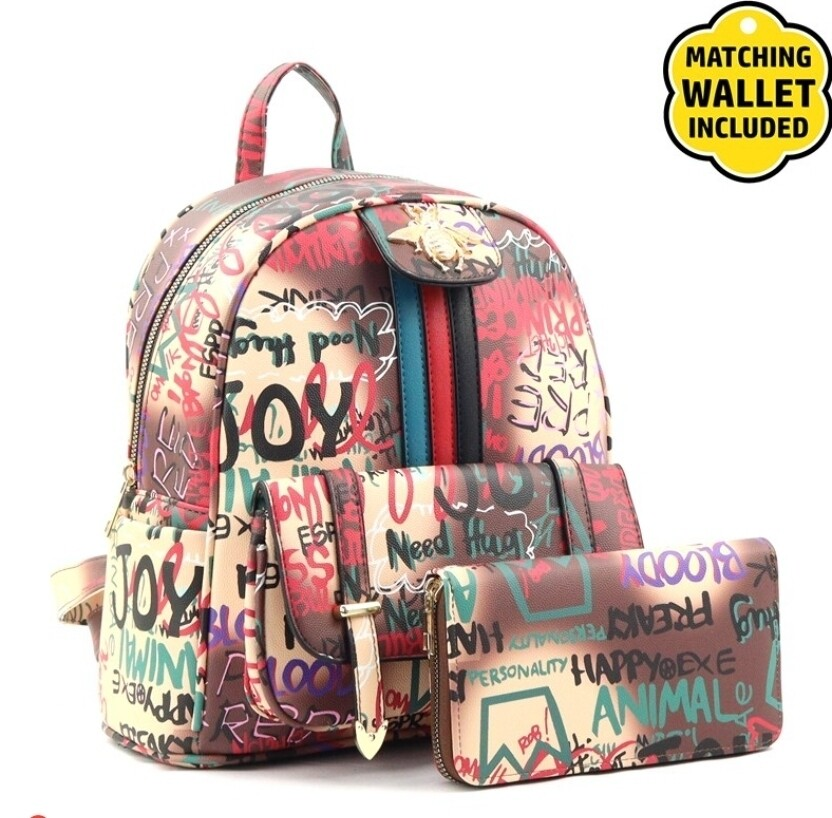 Graffiti Backpack 2 pc