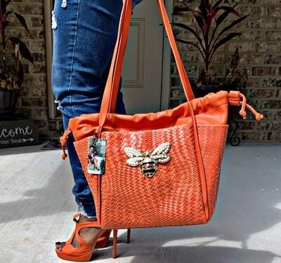 Orange Bumblebee Bag