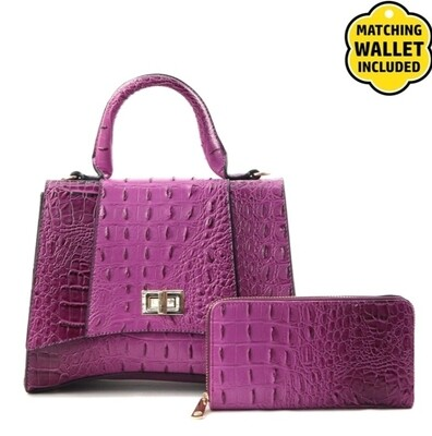 Purple Croc 2 pc