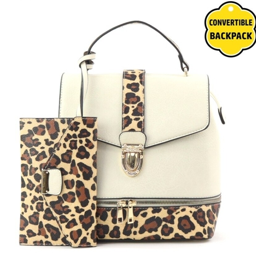 Leopard 2 pc Backpack
