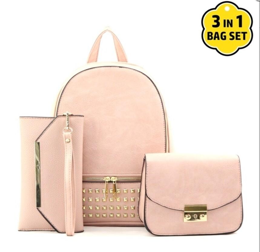 Blush 3 pc Backpack Set