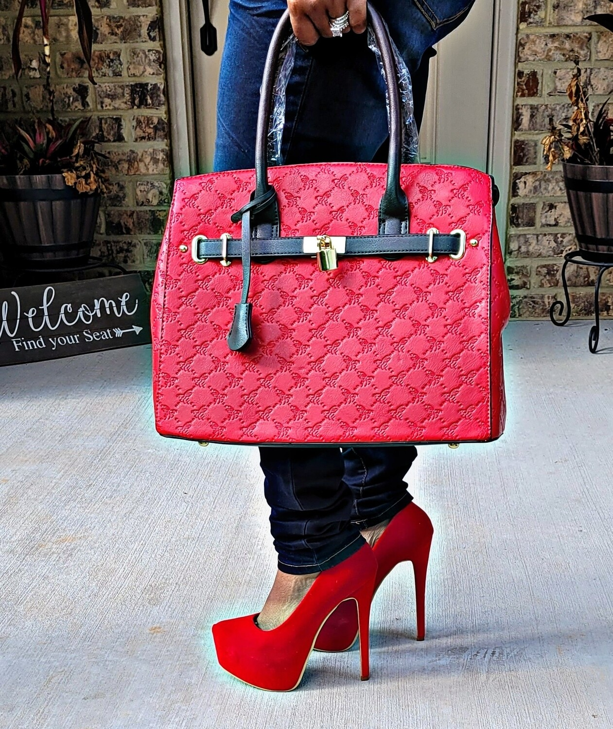 Red 2 pc Tote
