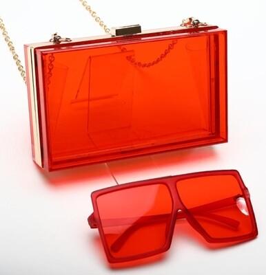 Red Acrylic 2 pc Set
