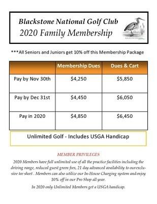 Family Unlimited Membership 1109