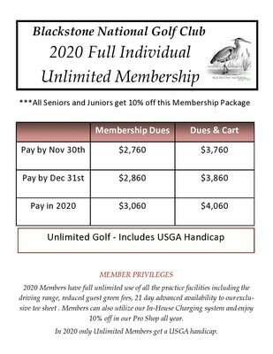 Individual Unlimited Membership 1107