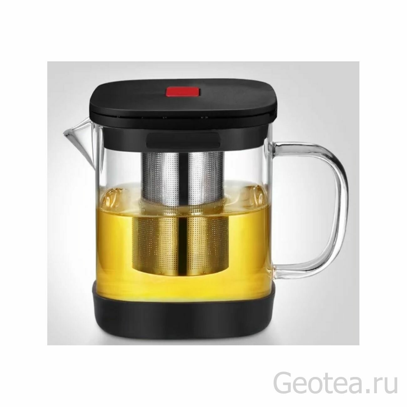 Чайник 1,1 л с кнопкой, металлическое сито