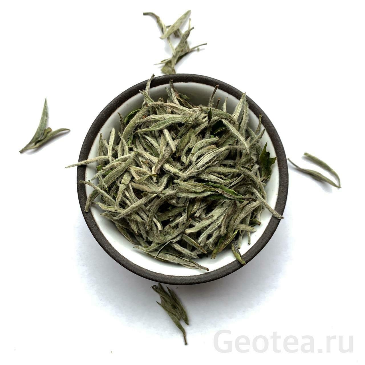 """Чай Белый Бай Хао Инь Чжэнь #800 """"Серебрянные иглы с белым ворсом"""""""