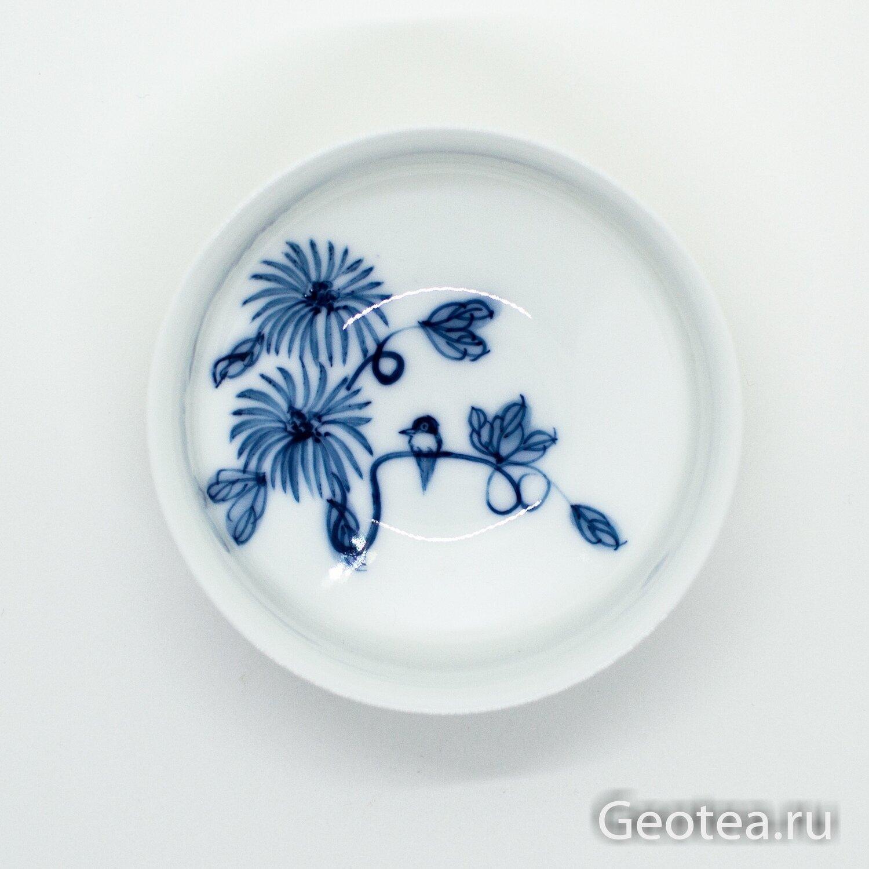 """Пиала """"Птица на синем цветке"""""""