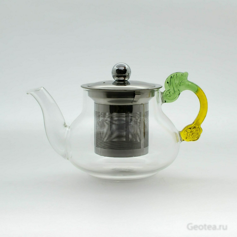 Чайник с металлический колбой 400мл.