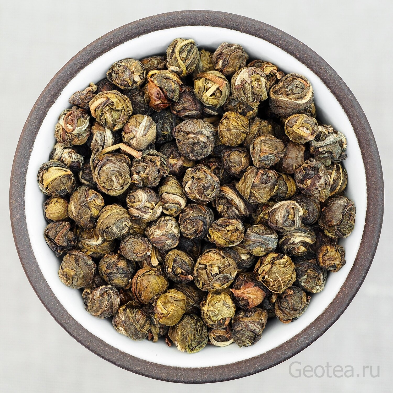 """Чай Зеленый с Жасмином Моли Чжень Чжу """"Жасминовые жемчужины"""""""