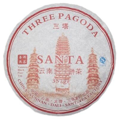 """Чай Шу Пуэр Саньта """"Три пагоды"""" 357гр., 2018г."""